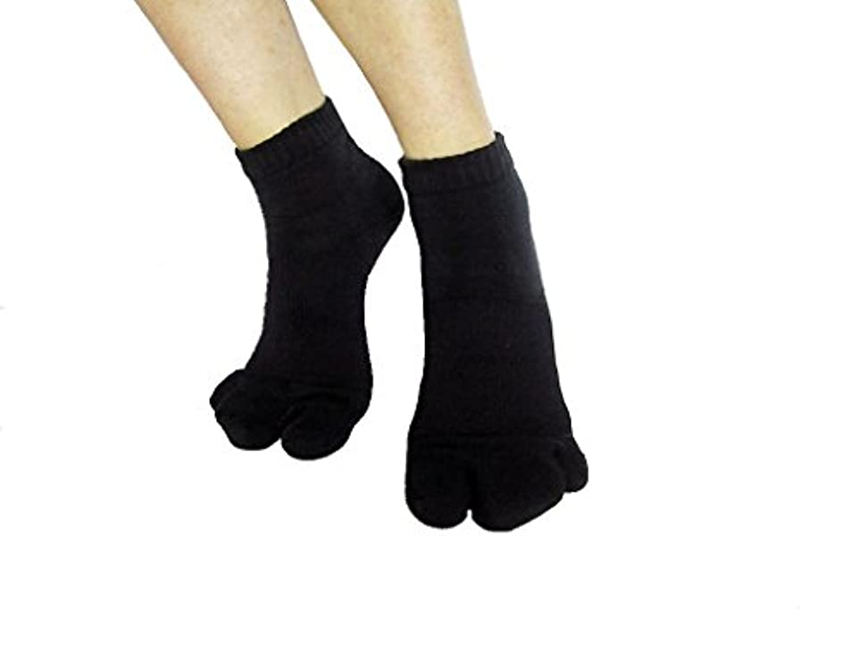 受け継ぐ利益変数カサハラ式サポーター ホソックス3本指 テーピング靴下 ブラック M23.5-23.5cm