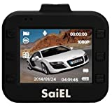 SaiEL コンパクトHDドライブレコーダー 衝撃センサー搭載、エンジン連動自動録画開始・停止、CMOSセンサー搭載夜道にも、日本語マニュアル付き