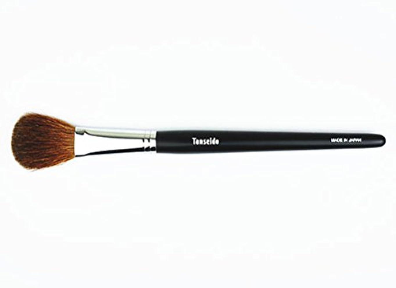 精度戸惑う技術的な熊野筆 丹精堂 チークブラシ YAQ 17 黒