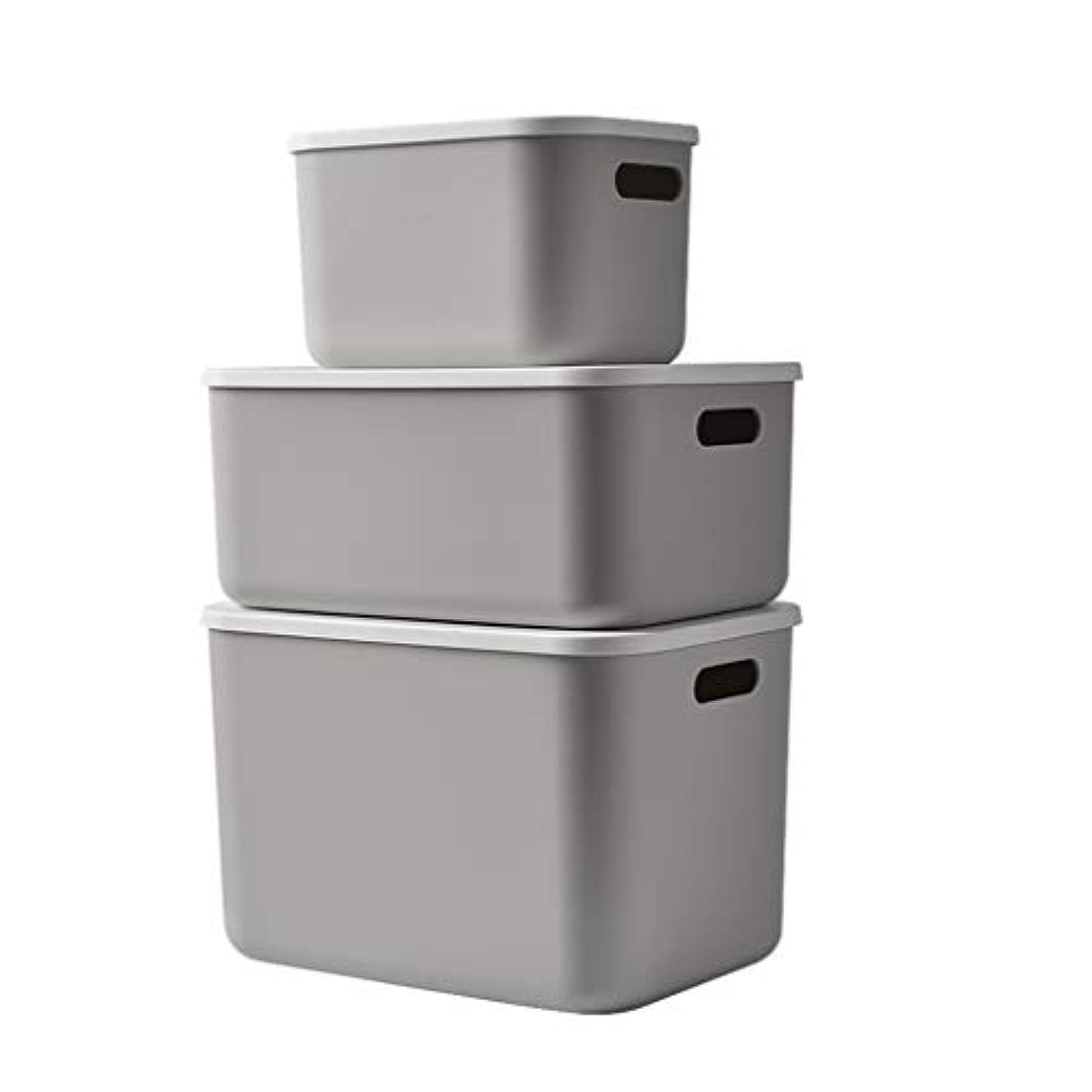ポジティブ核ネストSMMRB 収納ボックス雑貨収納バスケット、フタ付き収納ボックス、PP素材、スリーピーススーツ (色 : A)
