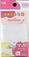 【まとめ買い】KM3209 家庭糸(細口)白 60m 針1本付 ×12個