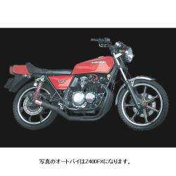ヨシムラ(YOSHIMURA) バイクマフラー フルエキゾースト 機械曲 ストレート サイクロン B スチールカバー Z400FX Z400GP ZEPHYR400(89-96) 110-241-4640 バイク オートバイ