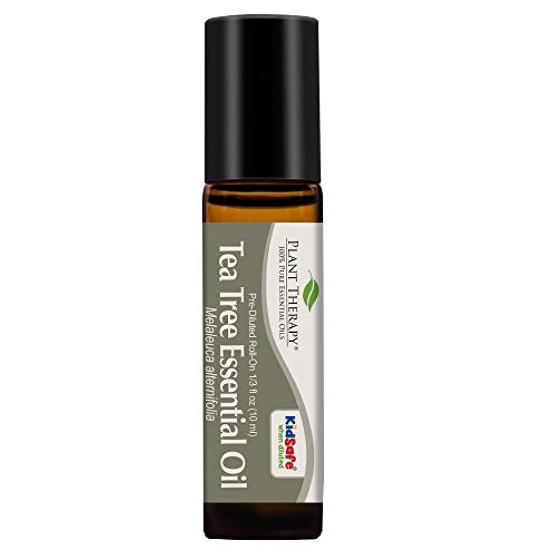 平らにする崇拝する遠洋のPlant Therapy Tea Tree Pre-Diluted Roll-On 10 ml (1/3 fl oz) 100% Pure, Therapeutic Grade