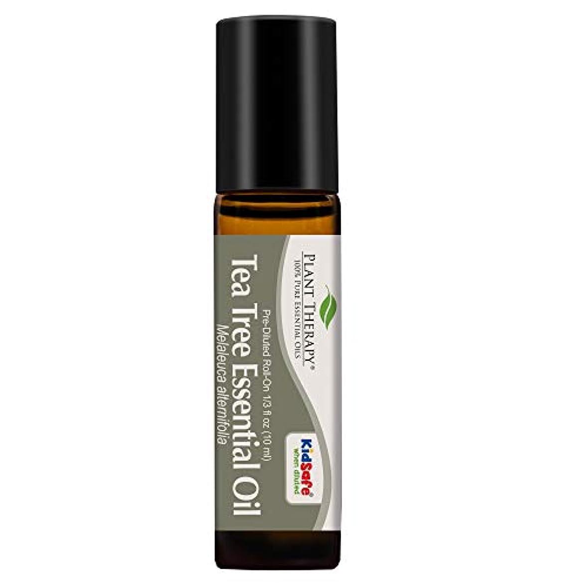 ライターウナギ制限Plant Therapy Tea Tree Pre-Diluted Roll-On 10 ml (1/3 fl oz) 100% Pure, Therapeutic Grade