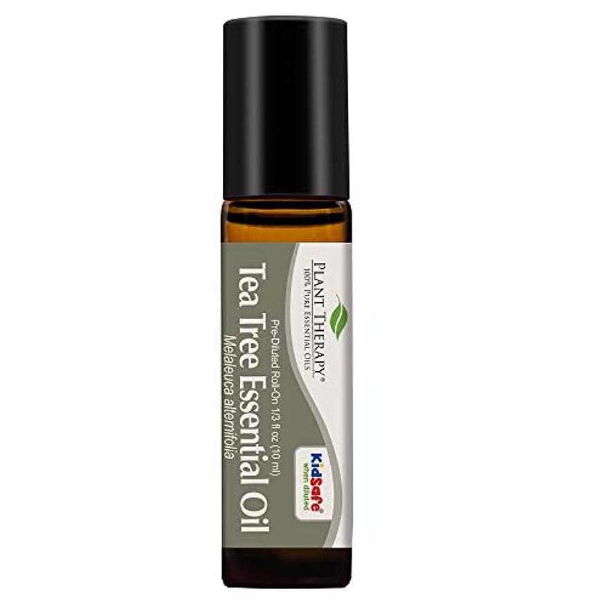 加速度一般化する愛されし者Plant Therapy Tea Tree Pre-Diluted Roll-On 10 ml (1/3 fl oz) 100% Pure, Therapeutic Grade