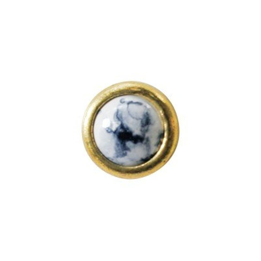共和国申し込む釈義クレア ゴールド&ラウンド ホワイトマーブリー NP-124G 10p