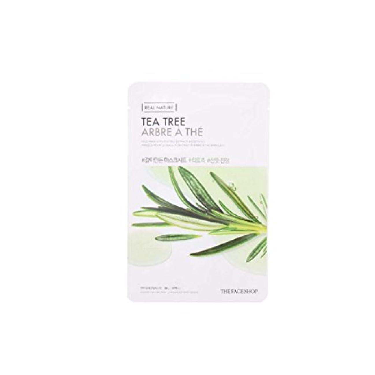 農村放射能特派員[The Face Shop] ザフェイスショップ リアルネイチャーマスクシート Real Nature Mask Sheet (Tea Tree (ティーツリー) 10個) [並行輸入品]