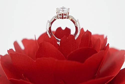 ロマンチックすぎるぅ!大輪の花の中に指輪をセットできるリングケース