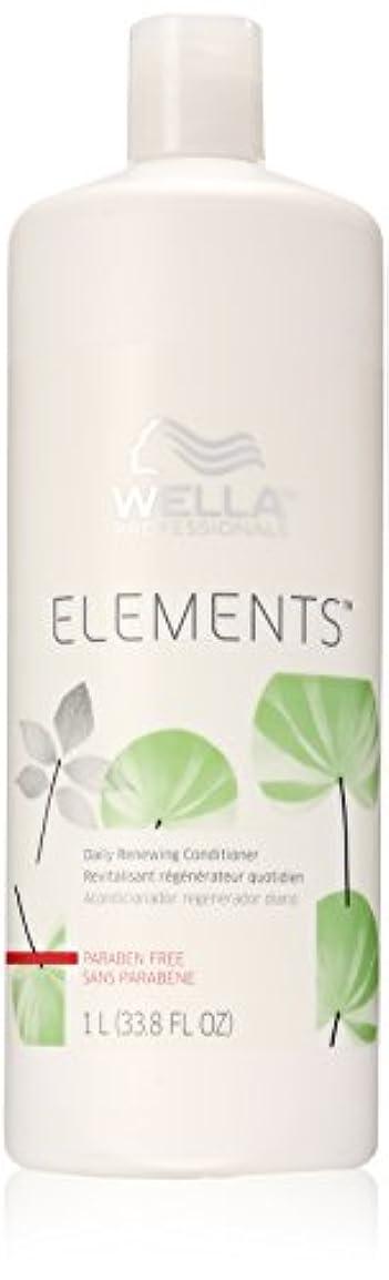 クモ健康チェスをするWella Elements Conditioner, 33.8 Ounce