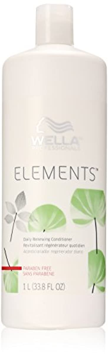 添付スクラブグローブWella Elements Conditioner, 33.8 Ounce