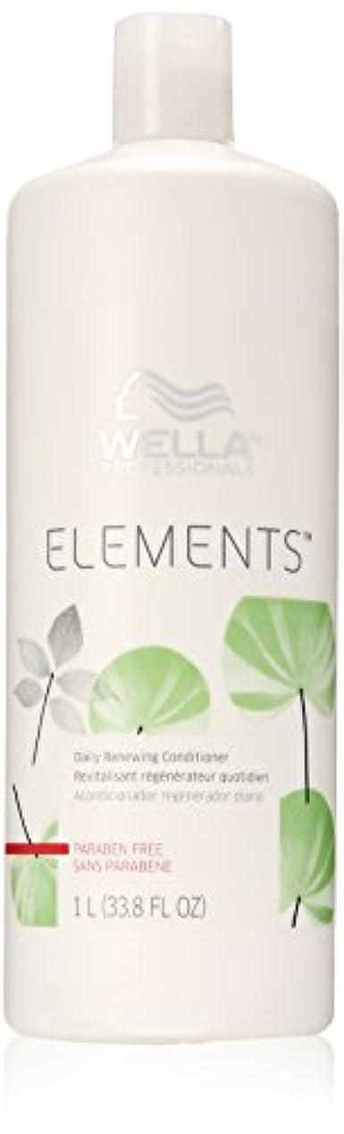 津波表示ハリケーンWella Elements Conditioner, 33.8 Ounce