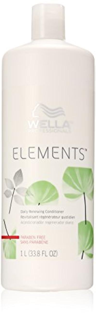 ケント決めます市の花Wella Elements Conditioner, 33.8 Ounce