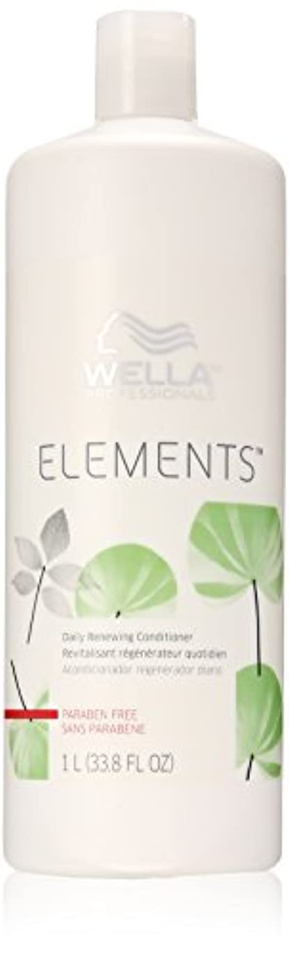 進捗蛇行ステージWella Elements Conditioner, 33.8 Ounce