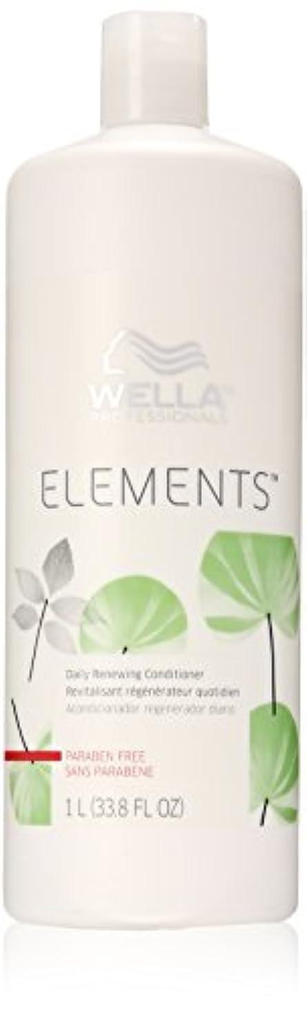 刺激するキャメルペアWella Elements Conditioner, 33.8 Ounce