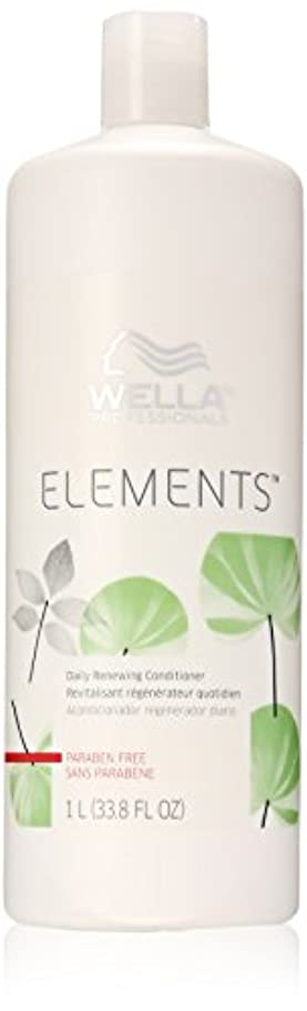 反発する暗殺神学校Wella Elements Conditioner, 33.8 Ounce