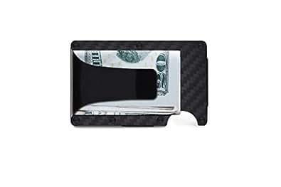 [ザ リッジ] the RIDGE スマートフォンよりも薄い財布 マネークリップ カーボンファイバー