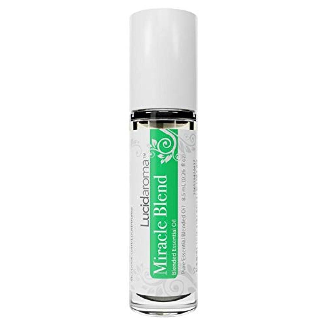 帳面精神医学反抗Lucid Aroma Miracle Blend ミラクル ブレンド ロールオン アロマオイル 8.5mL (塗るアロマ) 100%天然 携帯便利 ピュア エッセンシャル アメリカ製