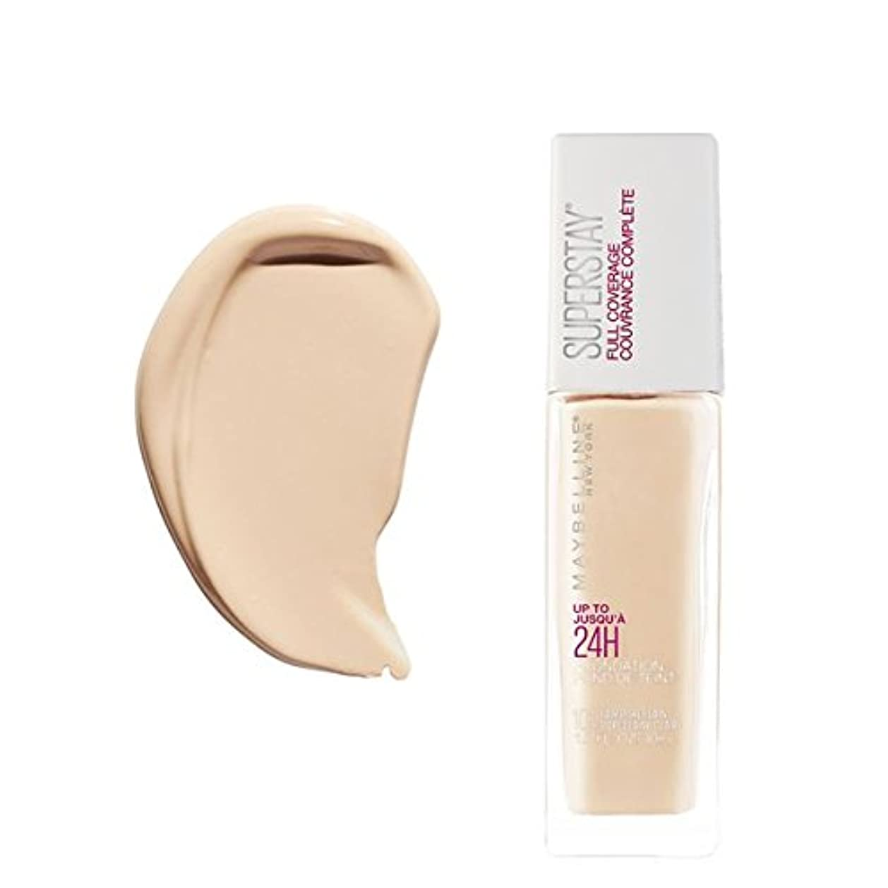 アスリート強打慣れている(6 Pack) MAYBELLINE Superstay Full Coverage Foundation - Fair Porcelain 102 (並行輸入品)