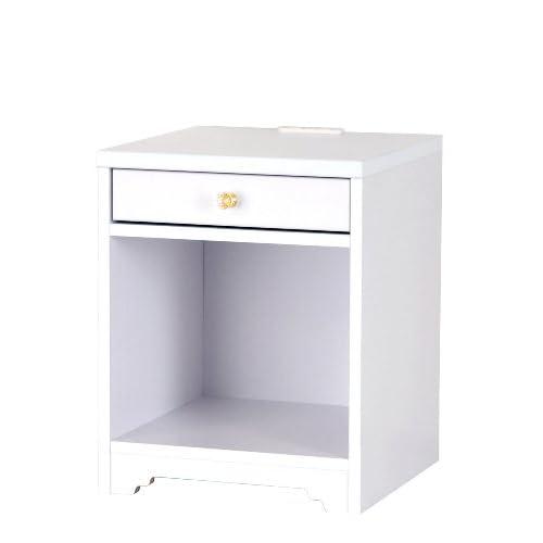 【組立品】CERISE-スリーズ- コンセント付 ナイトテーブル ホワイト