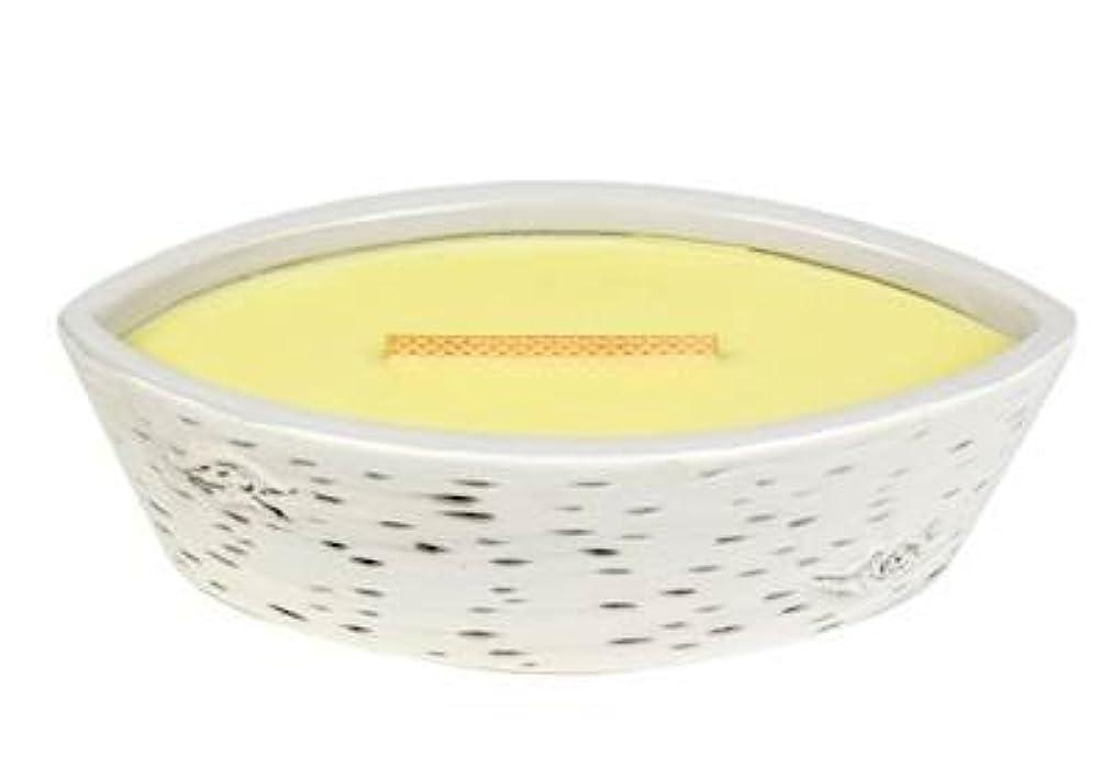 公式いわゆる摩擦レモングラス – Birchセラミック楕円HearthWick Flame Scented Candle by WoodWick