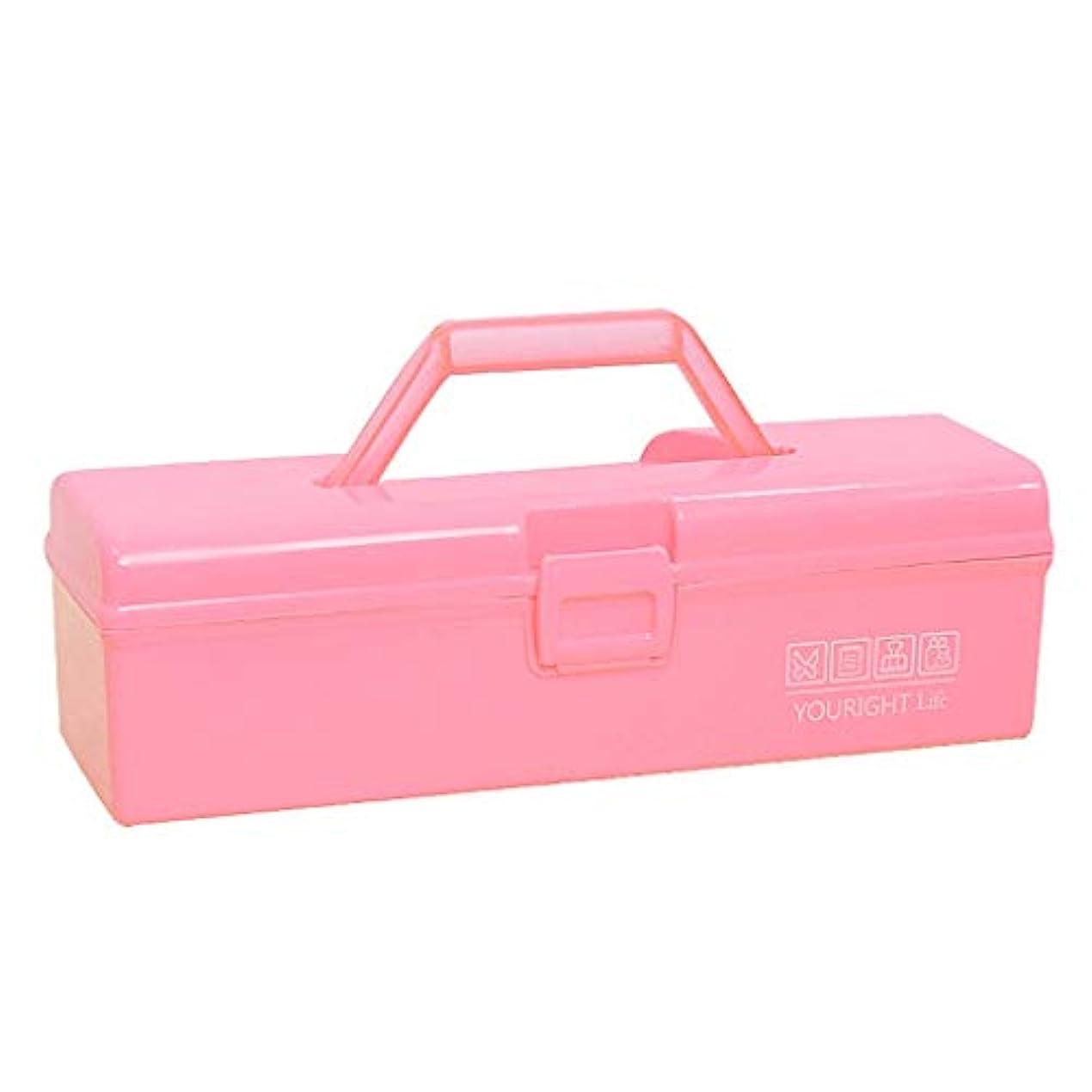カラーベルトハンドル収納ボックス薬箱ツールボックス収納ボックス LIUXIN (Color : Pink, Size : 30cm×9cm×9cm)