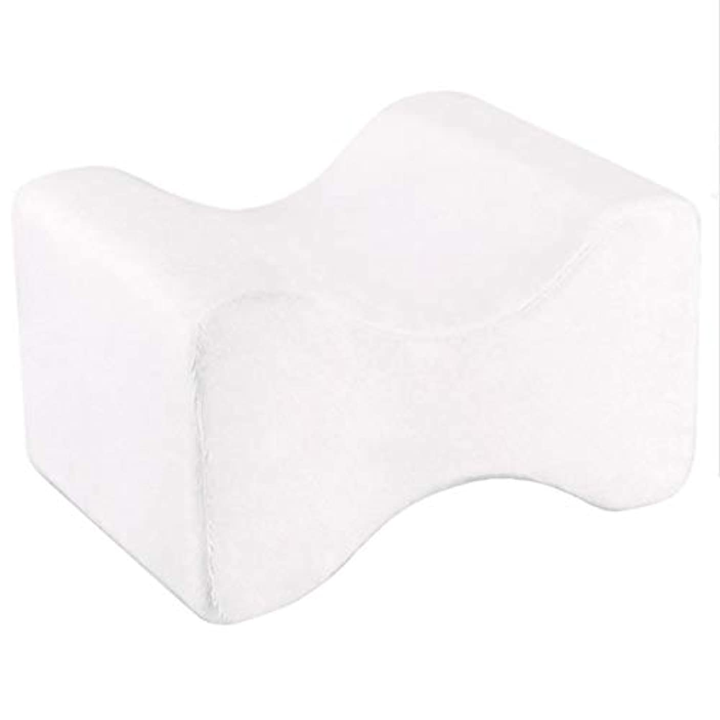 応じる危機隙間ソフト枕膝枕クリップ足低反発ウェッジ遅いリバウンドメモリコットンクランプマッサージ枕男性女性 - ホワイト