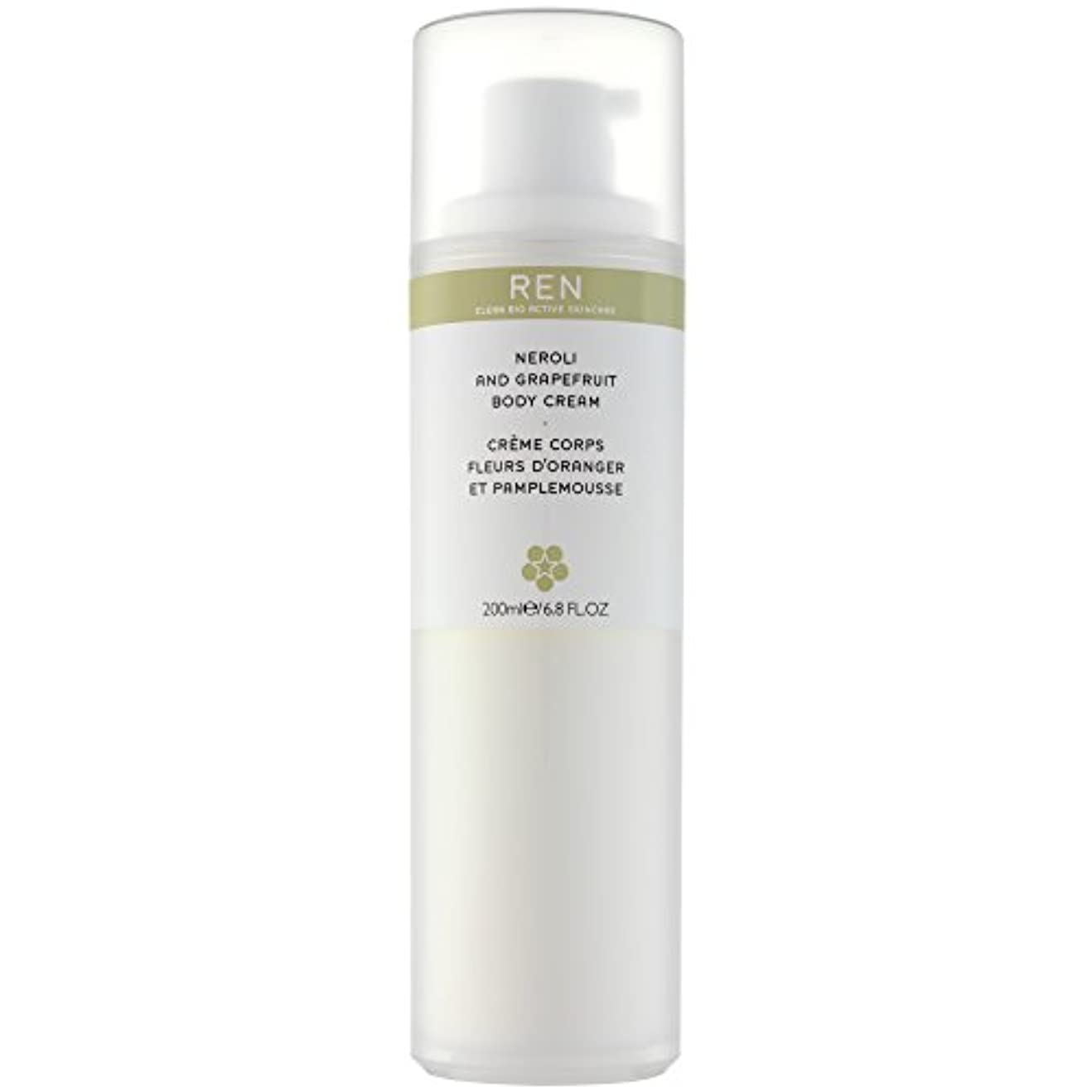 とげのあるヒョウ拮抗するRenネロリとグレープフルーツボディクリーム200ミリリットル (REN) (x2) - REN Neroli and Grapefruit Body Cream 200ml (Pack of 2) [並行輸入品]