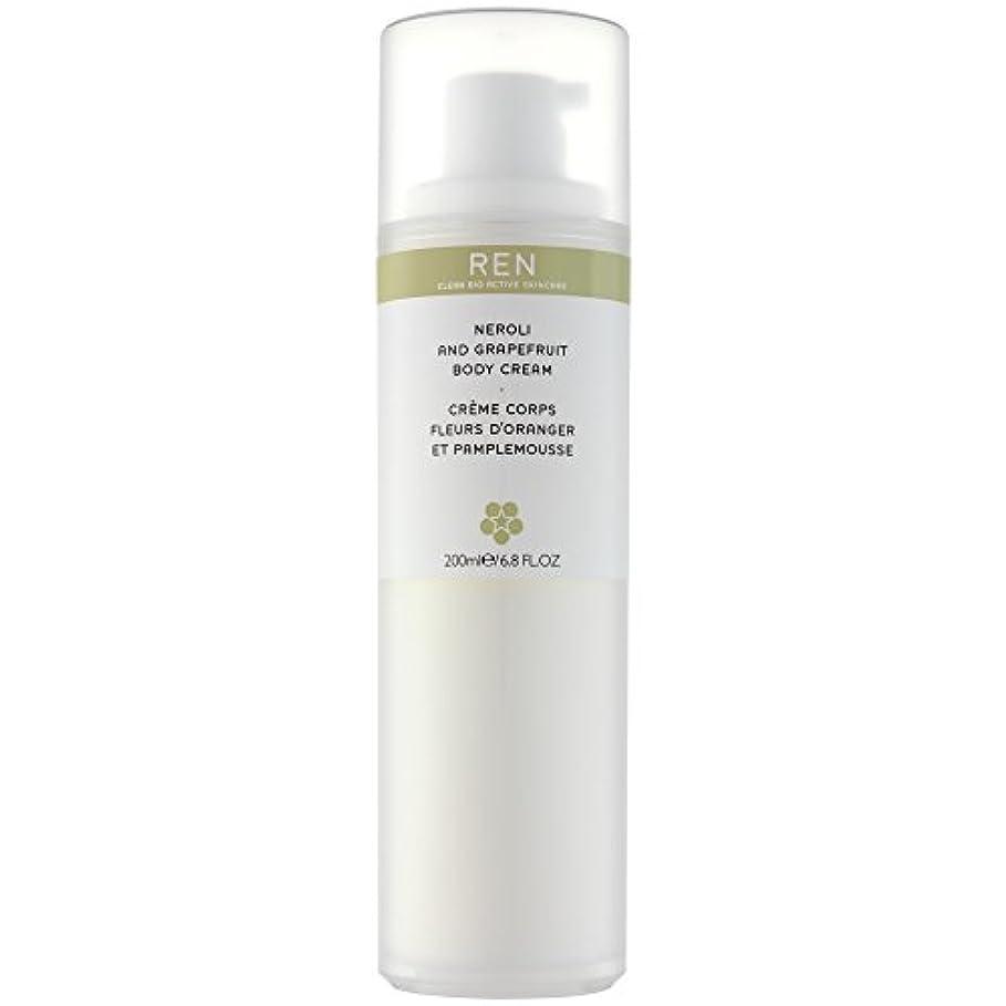 聖歌ケニアぼかしRenネロリとグレープフルーツボディクリーム200ミリリットル (REN) (x6) - REN Neroli and Grapefruit Body Cream 200ml (Pack of 6) [並行輸入品]
