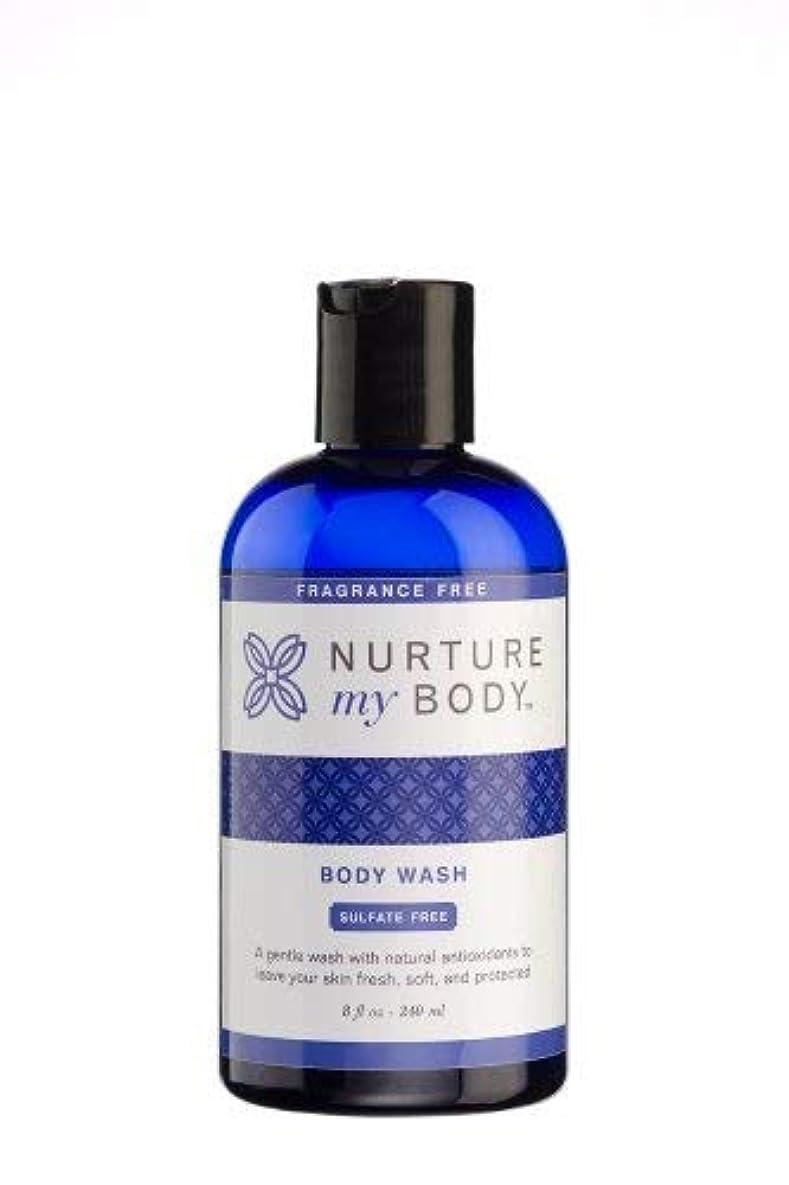 韓国語世代出版Nurture My Body Fragrance Free Organic Body Wash - SLS Free - For Sensitive Skin - 8 fl oz by Nurture My Body