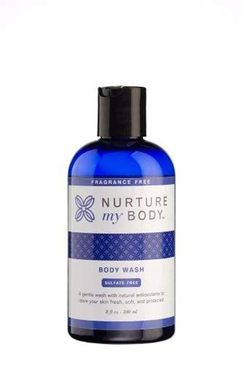 超えるドラフトスクラブNurture My Body Fragrance Free Organic Body Wash - SLS Free - For Sensitive Skin - 8 fl oz by Nurture My Body