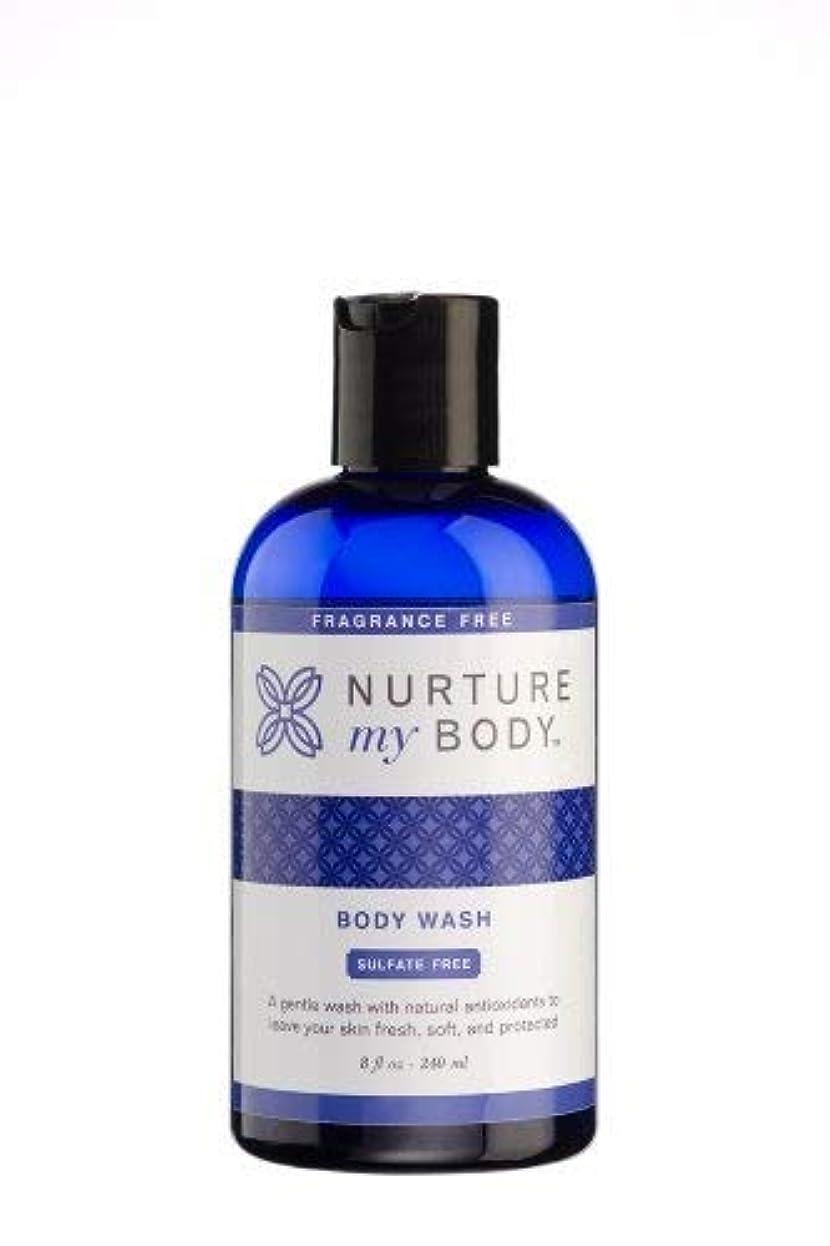 マージイディオム抵抗Nurture My Body Fragrance Free Organic Body Wash - SLS Free - For Sensitive Skin - 8 fl oz by Nurture My Body