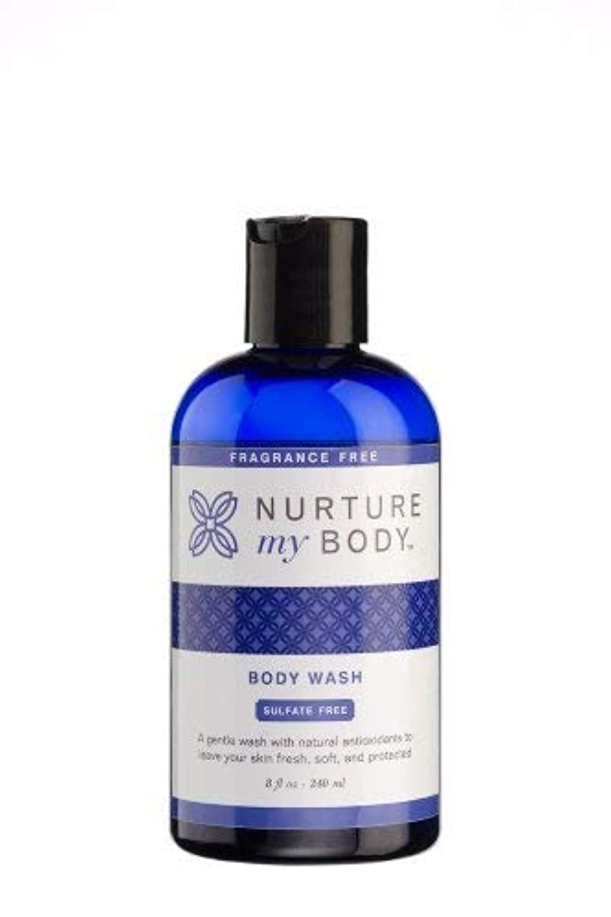クリエイティブ虫切り離すNurture My Body Fragrance Free Organic Body Wash - SLS Free - For Sensitive Skin - 8 fl oz by Nurture My Body