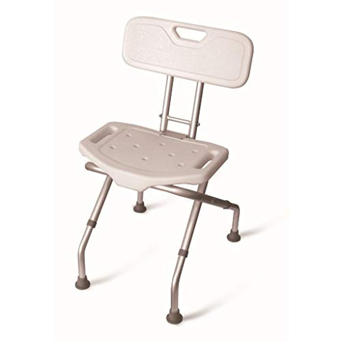 シャーアクティビティ裁定/高齢者/身体障害者/妊婦/風呂に適した背もたれシャワースツール調節可能な高さの折りたたみ式アルミ合金