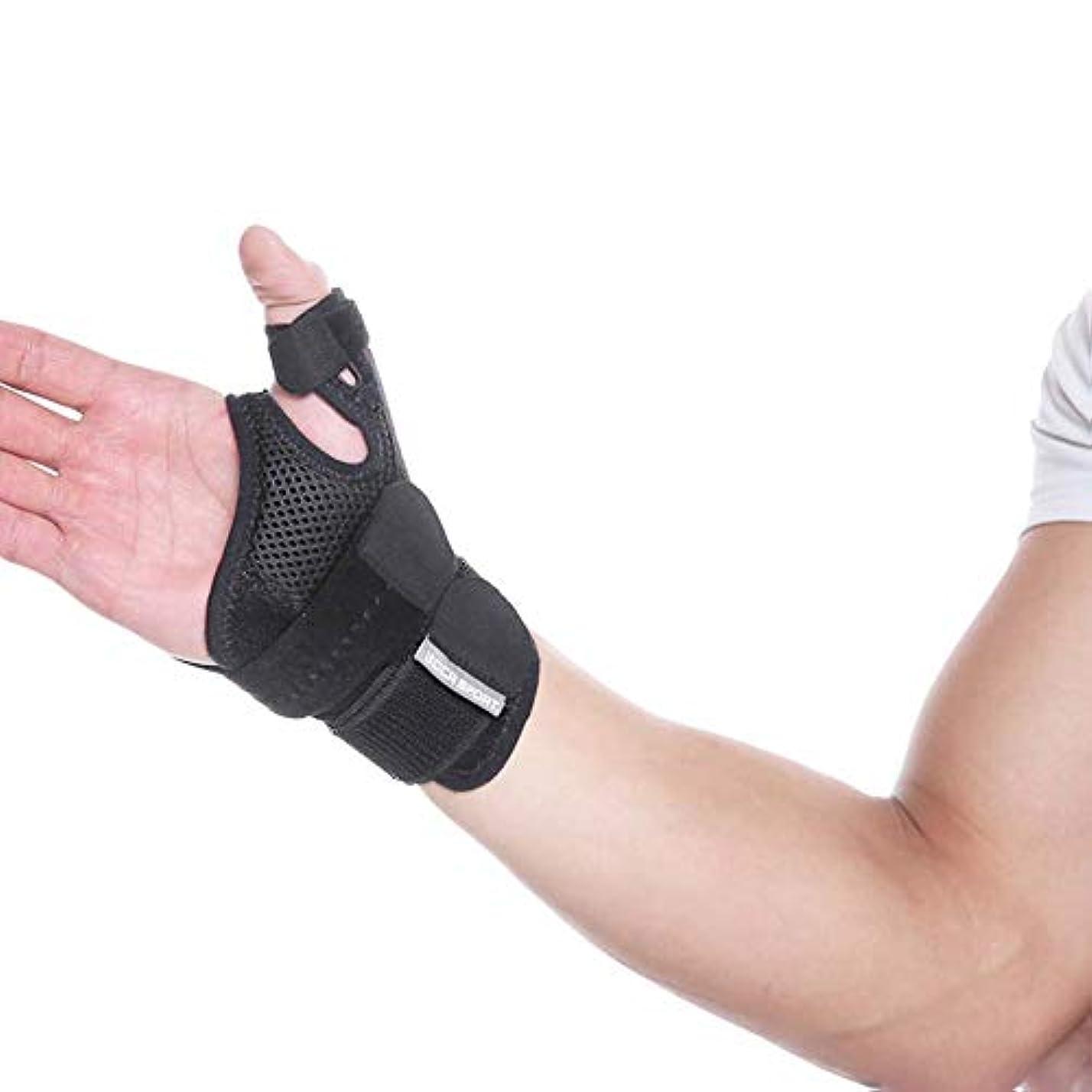 トンネル創造可動式関節炎サムスプリント - 痛み、捻挫、株、関節炎、手根管&トリガー親指固定用親指スピカサポートブレース - リストストラップ