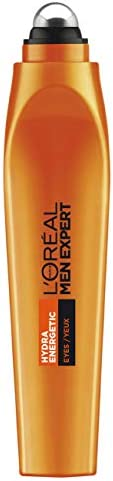 L'Oréal Paris Men Expert Hydra Energetic Cool Eye Roll-On For Men, Reduce Dark Circles with Vitamin C and
