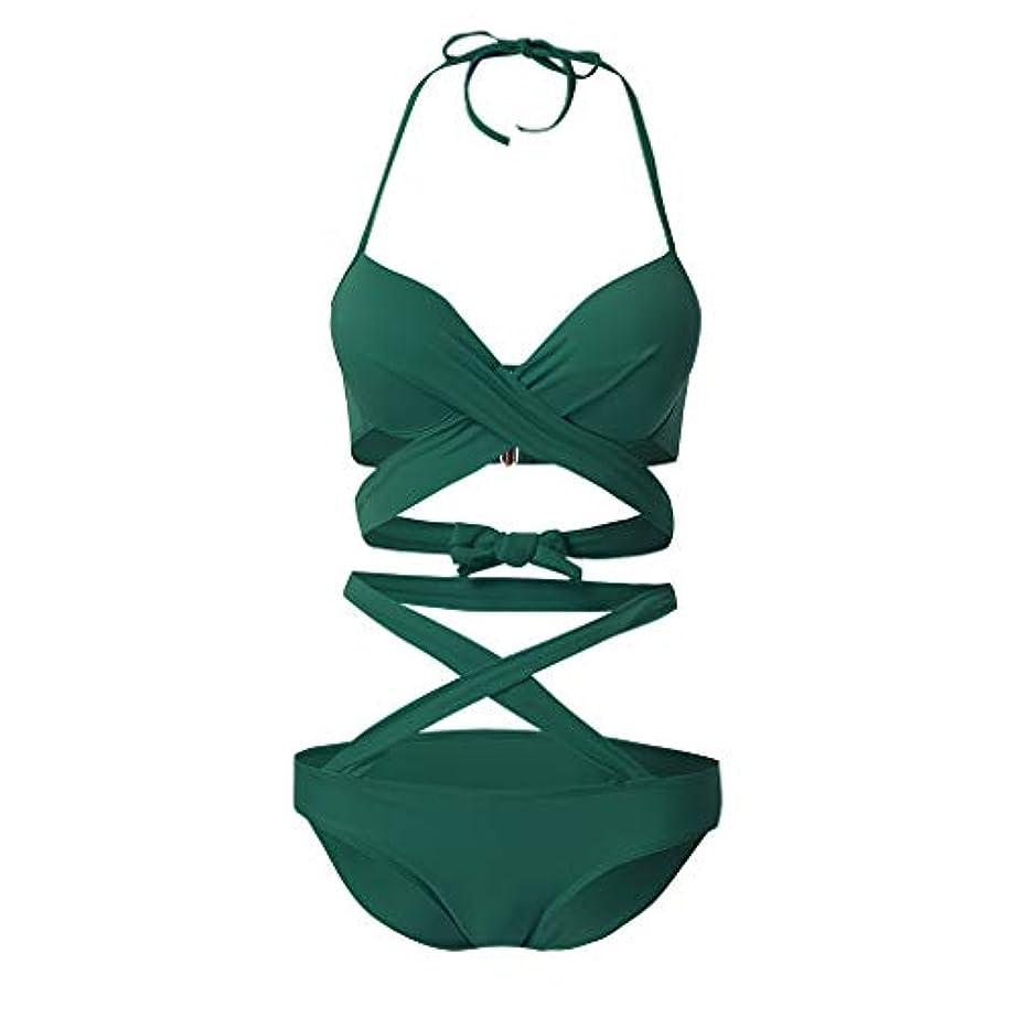 ナラーバー実業家ウェイドレディース 水着 OD企画 女性 ビキニ クロス ビキニ レディース 水着 2点 セット ワイヤー パッド入り ビキニ 上下 ワンピース おしゃれ 海水浴 ビーチ 温泉 海 旅行に適切