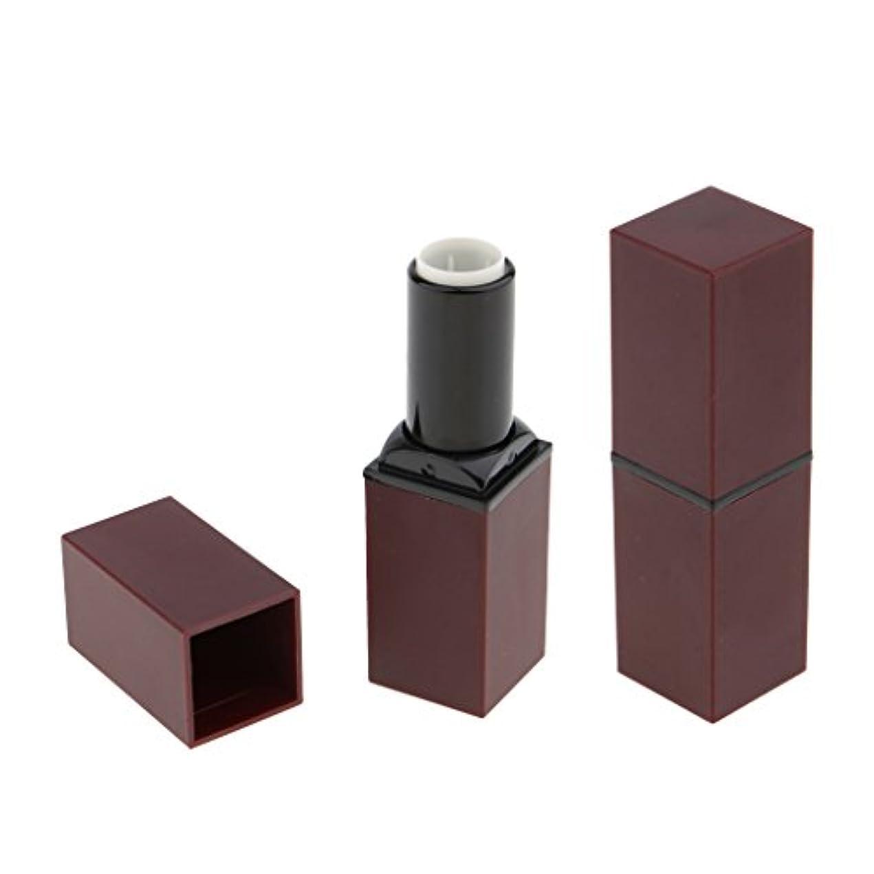 暴力見える成果Baosity 2本 リップスティック リップバーム 口紅 DIY 手作り 空チューブ 12.1 mm 口紅モデル 便利 全4色 - 紫