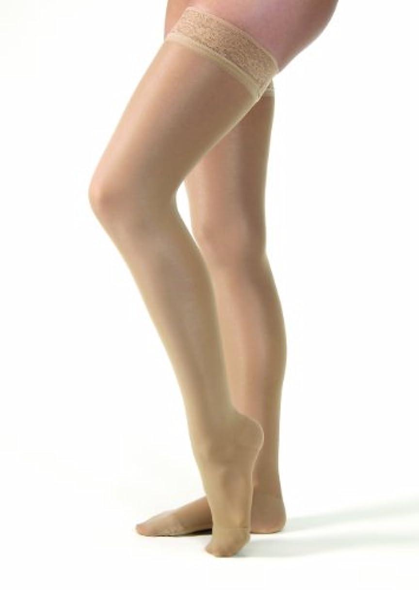 未亡人狂人目立つJobst 122267 Ultrasheer Thigh Highs 30-40 mmHg Extra Firm with Lace Silicone Top Band - Size & Color- Natural Medium