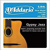 D'Addario EJ84L Gypsy Jazz Acoustic Guitar Strings Loop End Light 10-44 [並行輸入品]