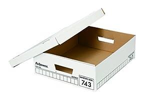 フェローズ バンカーズボックス 743 A4サイズハーフ 黒 6枚1セット 収納ボックス ふた付き 1743001