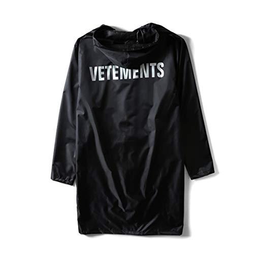 ヴェトモン Vetements オーバーサイズ レインコート ウインドブレーカー 合羽 ロゴ 軽量