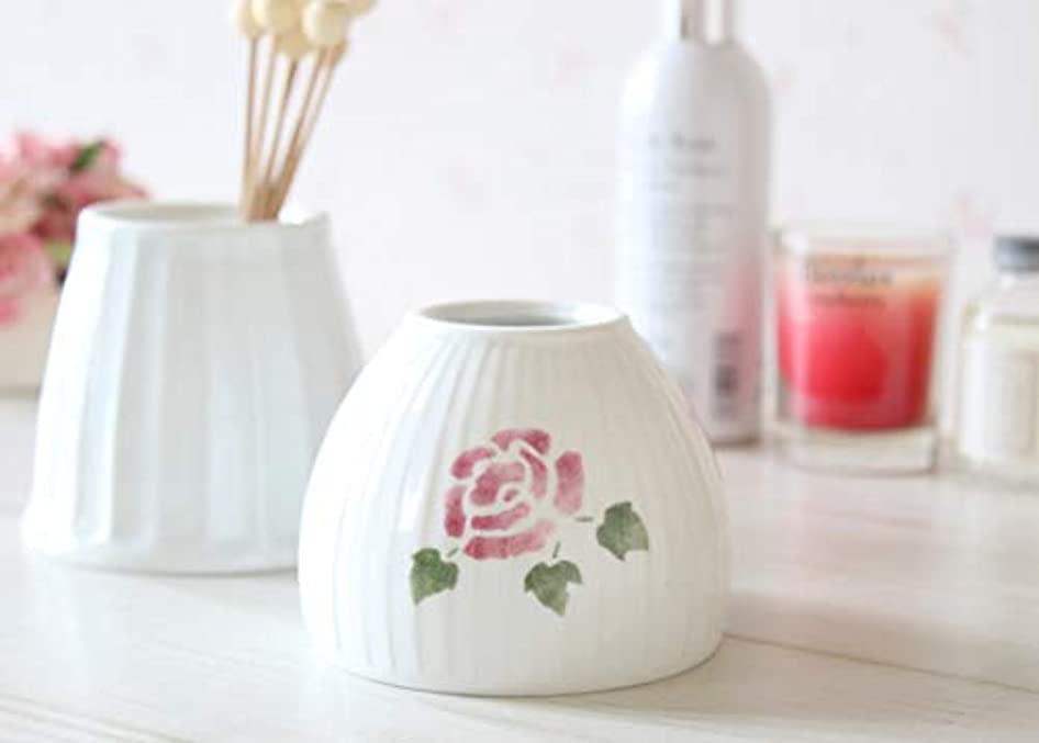 スローガン素晴らしいタックマニーローズ 陶器 ジュポン型アロマカバー