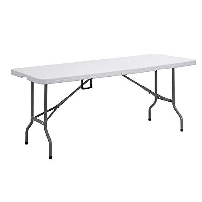 白雪姫マイク目の前のZR キャンプや実用的な折りたたみ式テーブルロングテーブル、折りたたみ式ポータブル多目的キャンプテーブル、屋外のポータブルピクニックテーブル、白
