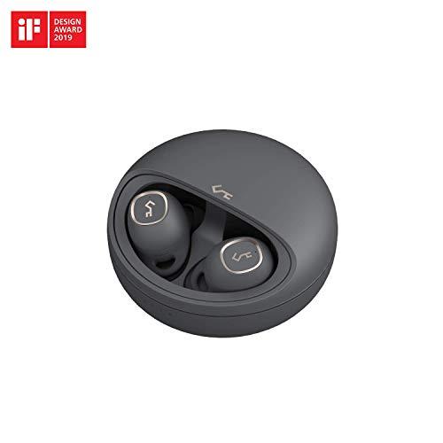 AUKEY 完全ワイヤレスイヤホン 24時間再生可能 Bluetooth 5.0 高音質 Bluetoothイヤホン 自動ペアリング 自動ON/OFF ブルートゥースイヤホン タッチ式 軽量 マイク付き 音声アシスタント対応 USB-C & Qiワイヤレス充電対応 IPX5防水 2年間安心保証 技適認証済み Key Series EP-T10