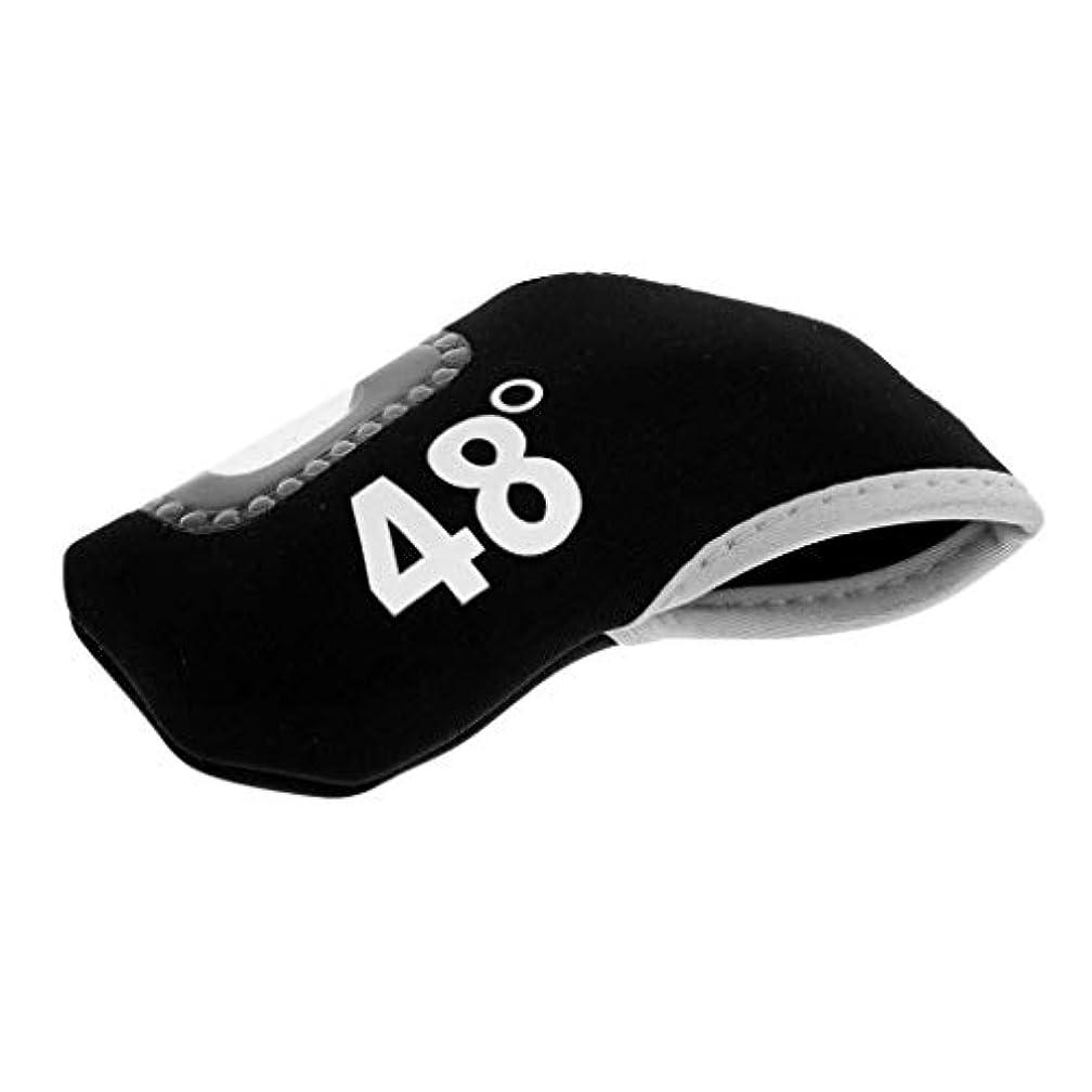 慈悲深いペンフレンドダメージゴルフクラブアイアンパターヘッドカバー プロテクター アクセサリー 全3色7タイプ - 黒, 48度