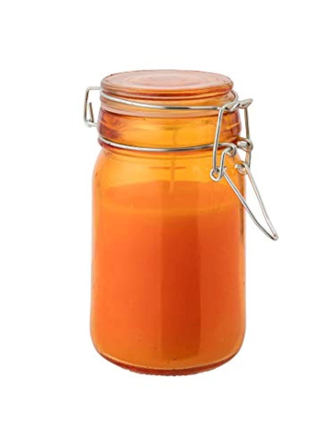 少年韓国紀元前(アルパインデザイン) Alpine DESIGN 虫よけキャンドル(シトロネラ) ガラス瓶蓋付き オレンジ