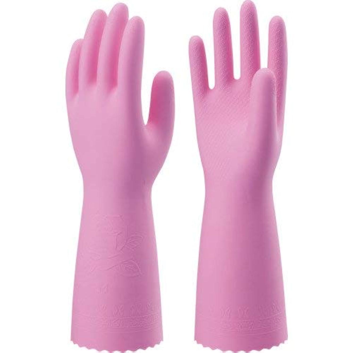不当よく話される蓋ナイスハンドミュー厚手 Mピンク × 90個セット