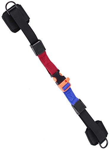 リュック ベルト チェストストラップ 笛型バックル ずり落ち防止バンド 肩ベルト ずれ落ちストッパー [アスタルテ] ASTARTE (黒赤青)