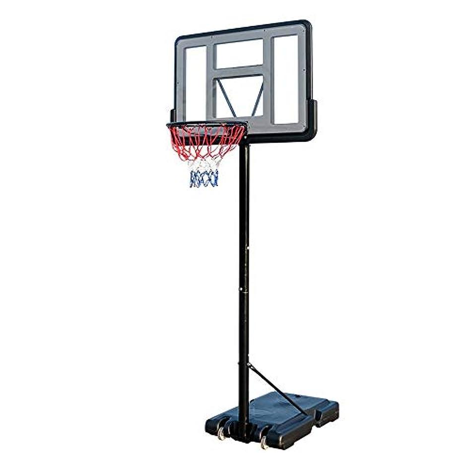 お別れ抜本的な紛争子供用バスケットボールスタンド 子供の屋内バスケットボールスタンド、屋外可動リフティングバスケットボールスタンド 屋外屋内子供用バスケットボールフープ (色 : Black, Size : One size)