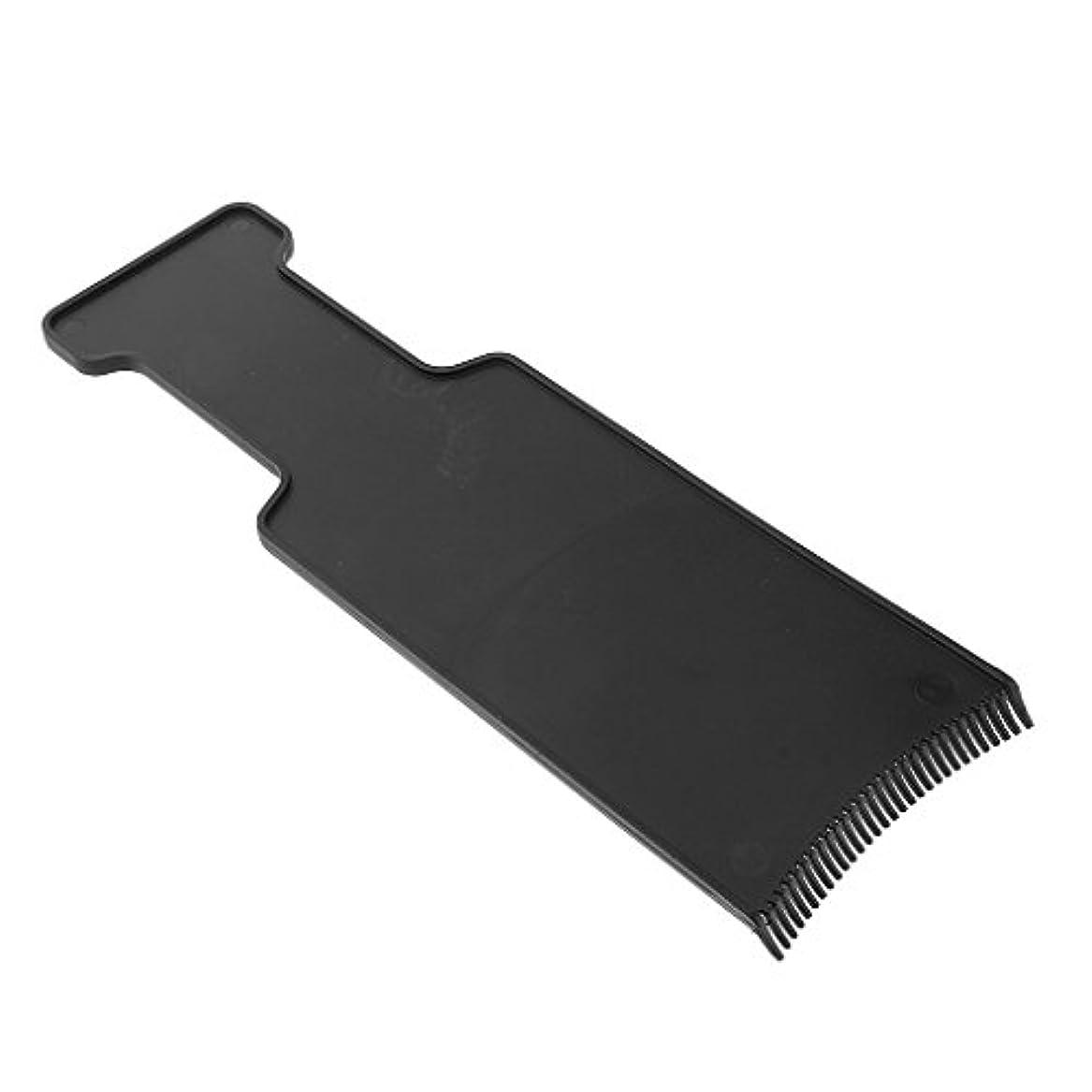 ミリメーター反抗複数サロン ヘアカラー ボード ヘアカラーティント 美容 ヘア ツール 髪 保護 ブラック 全4サイズ - M